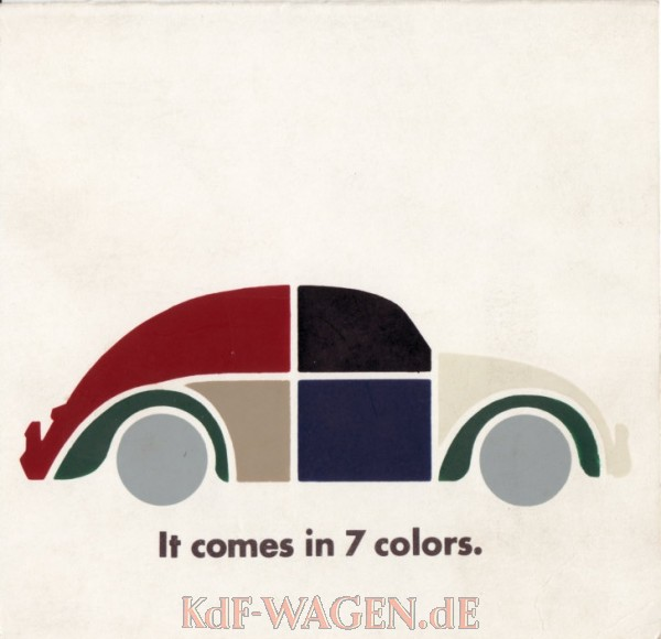 VW - 1966 - It comes in 7 colors. - 33-11-76020 - [10635]-1