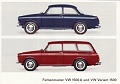 VW - 1965 - Farbenmuster VW 1500 A und VW Variant 1500 - 153.215.00 8/65 - [10639]